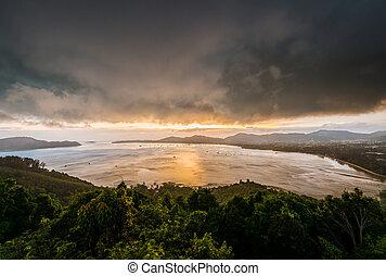 temporal, kao, phuket, khad, phuket, ciudad, tailandia, ...