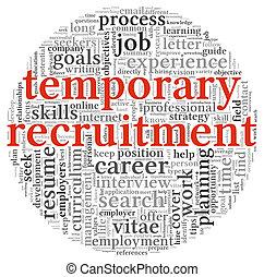 Temporary recruitment concept