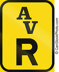 Temporary road sign used in the African country of Botswana - Reservation for abnormal vehicles