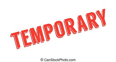 Temporary-stamp  Grunge rubber stamp with word temporary,vector