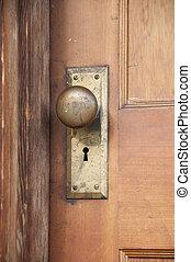 temprano, 1900s, doorknob