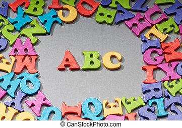 temprano, cartas, concepto, educación