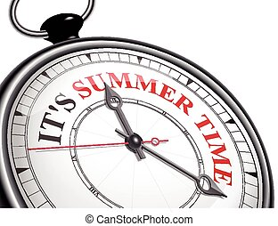 temps, été, concept, il, horloge