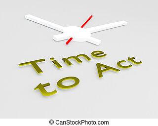 temps, agir, concept
