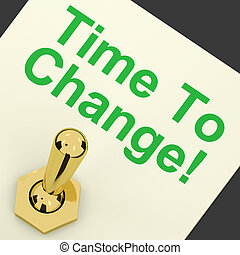 temps, améliorer, reform, signification, changement, commutateur