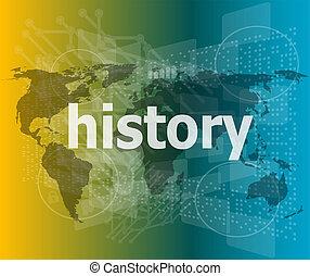 temps, arrière-plan numérique, histoire, concept: