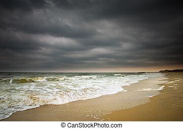 temps, atlantique, océan orageux