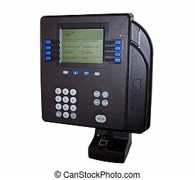 temps, biometric, id, horloge