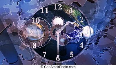 temps, boucle, mondiale