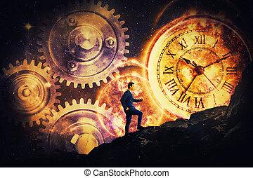 temps, c'est, matière