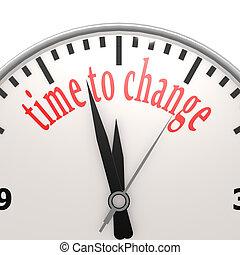 temps, changement, horloge