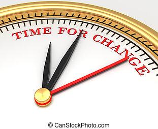 temps, changement, mots, horloge