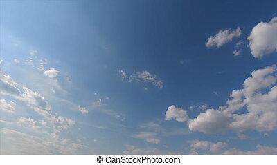 temps, clair, nuages, ensoleillé, défaillance, jour, vue