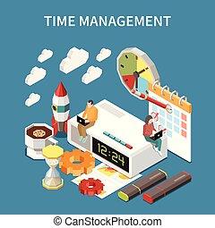 temps, concept, gestion