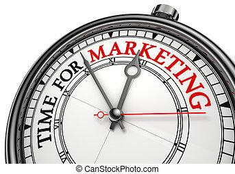 temps, concept, horloge, commercialisation