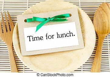 temps, déjeuner, carte