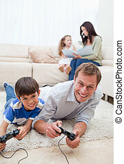 temps disponible, leur, apprécie, dépenser, ensemble, famille