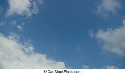 temps, en mouvement, défaillance, bleu, nuages, sky.