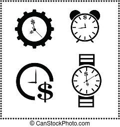 temps est argent, concept