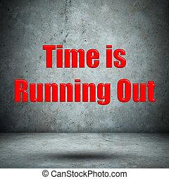 temps, est, courant, dehors, mur concret