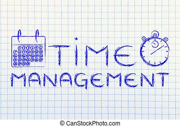 temps, et, gestion projet, pour, les, affaires globales