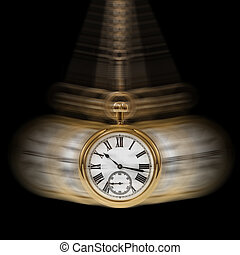 temps, et, mouvement, noir