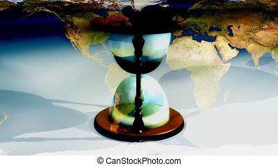 temps, faire boucle, fond, mondiale