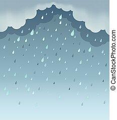 temps, fond, thème, 1, pluvieux