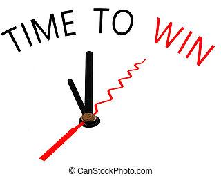 temps, gagner, concept, horloge