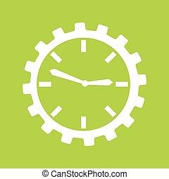 temps, icône, conception