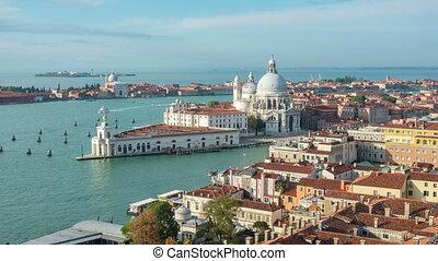 temps, italie, venise, défaillance, grand canal