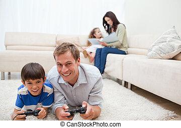 temps, leur, loisir, apprécie, dépenser, ensemble, famille