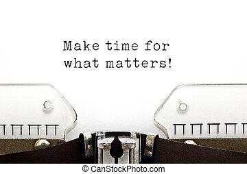 temps, machine écrire, faire, quel, compter