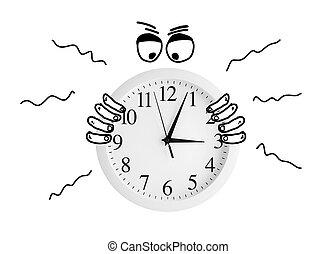 temps, montre, chronophage., capturé, cadran, management.
