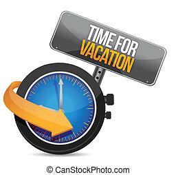 temps, montre, vacances, signe