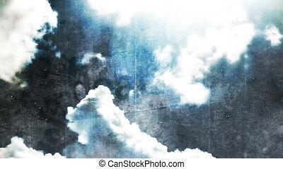 temps, mort, nuages, défaillance