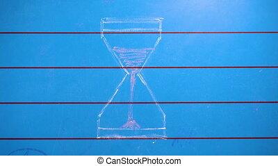 temps, mouvement, fin, arrêt, sablier