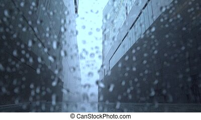 temps pluvieux, dehors