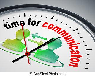 temps, pour, communication