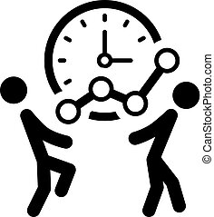 temps, pour, croissance, icon., business, concept.
