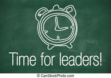 temps, pour, dirigeants