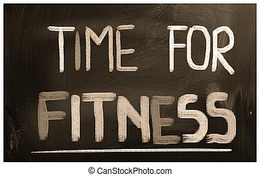 temps, pour, fitness, concept
