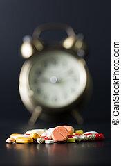 temps, pour, médecine