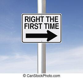 temps, premier, droit