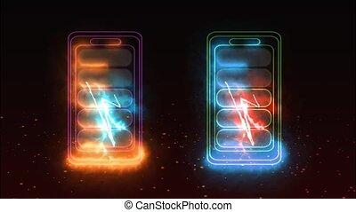 temps, quand, ligne, énergie, chargeur, max, batterie, vertical, puissance