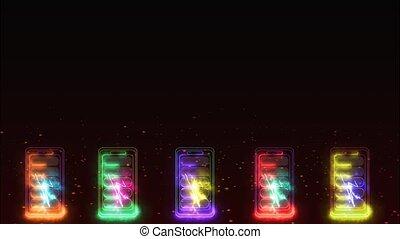 temps, quand, ligne, lithium, couleur, énergie, chargeur, max, batterie, vertical, cinq, puissance
