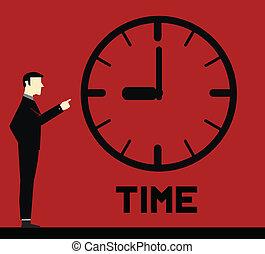 temps, rappeler, homme affaires