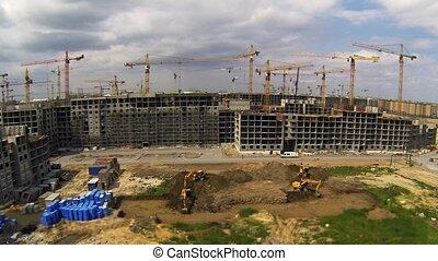temps, site, défaillance, construction