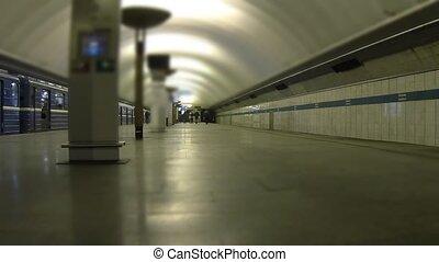 temps, station de métro, défaillance