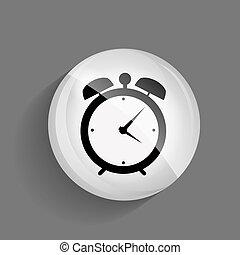 temps, vecteur, lustré, illustration, icône